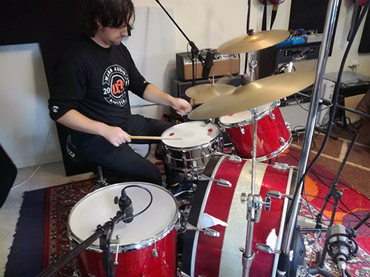 tracking rock drums