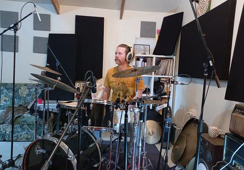 band recording setup