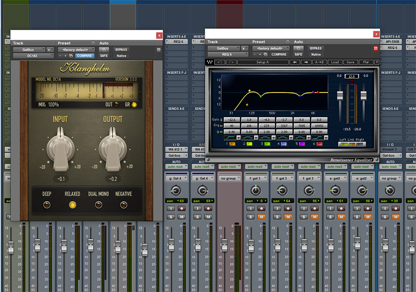 mixing and post production setup